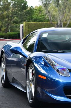 ♂ blue car Ferrari 458 Italia