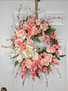 Excited to share the latest addition to my #etsy shop: Just Peachy! Spring Wreath. Peony wreath, Peach & Cream Peony Wreath, Easter Wreath. Elegant Summer Wreath. Indoor Wreath. Front door Wreath #homedecor #springdoorwreath #easterwreath #entryway