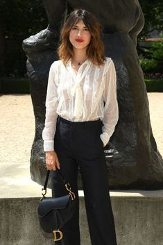 PARIS FRANCE - JULY Jeanne Damas attends the Christian Dior Haute Couture Fall Winter show as part of Paris Fashion Week on July 2 2018 in Paris France. (Photo by Pascal Le Segretain/Getty Images for Christian Dior Couture) Christian Dior Couture, Dior Haute Couture, Jeanne Damas, Parisian Chic Style, Paris Chic, Parisian Summer, Work Fashion, Fashion Outfits, Paris Fashion
