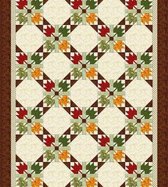 Use this easy Maple Leaf quilt block pattern to sew a colorful quilt that's a cinch to customize for any season of the year.