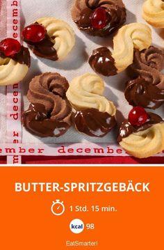 Butter-Spritzgebäck - smarter - Kalorien: 98 kcal - Zeit: 1 Std. 15 Min. | eatsmarter.de