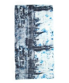 Lily and Lionel Navy London Skyline Printed Silk-Blend Scarf   Accessories   Liberty.co.uk London Skyline, Printed Silk, Distortion, Liberty, Lily, Interiors, Fabric, Prints, Accessories