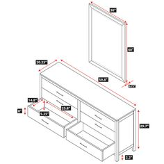 Dresser Dimensions lowboy dresser dimensions - google search | woodworking projects