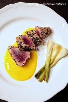 Tonno ai 2 sesami con maionese all'arancia | Un Pinguino in cucina
