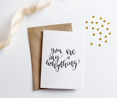Modern Prints, Greeting Cards for any occasions - baby shower, birthday cards, friendship cards - Creative Feel Brush Lettering, Hand Lettering, Lettering Ideas, Happy Valentines Day Calligraphy, Love Cards, Modern Calligraphy, Best Pens, Friendship Cards, Modern Prints