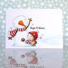 "Geburstagskarte oder Valentinstagskarte | birthday or Valentine's Day card - Purple Onion Designs ""Berry"", ""Oakley"", ""Sweet Occasions Sentiment Set"", Lawn Fawn ""Stitched Hillside Borders"", Copics"