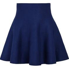 Sheinside Women's Black/Blue/Red High Waist Ruffle Skirt ($9.90) ❤ liked on Polyvore featuring skirts, bottoms, high waisted knee length skirt, high-waist skirt, high waisted ruffle skirt, blue skirts and red ruffle skirt