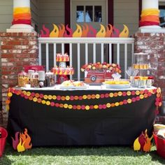 Fire Truck Printable Birthday Party.