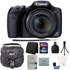 Canon PowerShot SX530 HS 16MP Wi-Fi  Digital Camera + 16GB Accessory Bundle #Canon