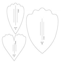 Flower Petal Pattern Use The Printable Outline For Crafts