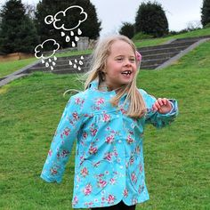 Who's wearing SPK? Pretty Poppy wearing our Pretty Floral Rain Coat - Just in time for those April showers! x shop at www.sweetpeaskidswear.com