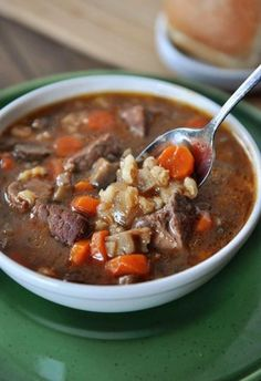 Slow Cooker Beef and Barley Soup (maybe try 1 tsp herbs de provence in place of thyme)