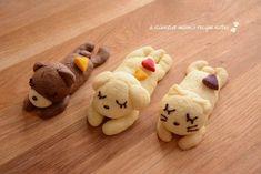 Sleeping animal cookies♡