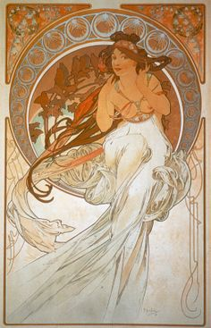 Alfons Maria Mucha  Les Arts, 1898 - La Musique