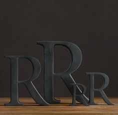 cast metal letter objects on sale at Restoration Hardware . These letters are really neat Metal Letters, Letters And Numbers, Monogram Letters, Cardboard Letters, Big Letters, Industrial Office Space, Exposed Ceilings, Loft Style, Metal Casting