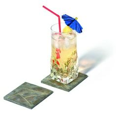 Protect your surfaces from scratches and watermarks with the durable Faux Stone Coasters. The rustic look of these coasters will add a stylish touch to your home. Made of durable resin to prevent coasters from sticking to glasses, its padded base prevents surface scratches. Includes four faux stone coasters. Care:Wipe with a damp cloth and towel dry. • Protects surfaces from scratches and watermarks • Padded base protects surfaces from scratches ...