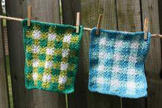 Lily Sugar n Cream - Gingham Dishcloth (crochet)