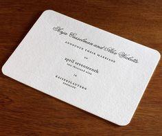 wedding invitation round corners