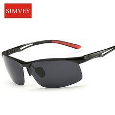 595c5cbe8b8 Simvey 2017 New Men Driving Polarized Sunglasses Aluminum Alloy Frame Sport  Fishing Golf Sun Glasses High Quality-in Sunglasses from Men s Clothing ...