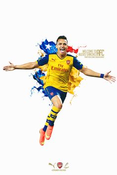 Alexis Sanchez  Welcome to Arsenal #AFC (Photo Credit:@Lagvilava7)