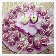 Bridal Shower Cake Pops that I made!