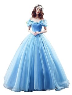 KekeHouse® Boat Neck Vintage Ball Gown Cosplay Princess Cinderella Quinceanera…