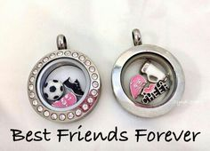 BFF charms--what a great idea for girls to give as gifts!