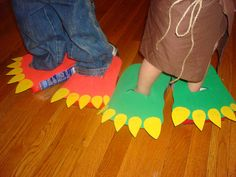 Dino Feet Out Of Boxes And Craft Foam