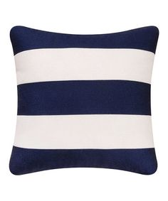 Look at this Navy & White Nautical Stripe Pillow on today! Navy Pillows, Big Pillows, Living Room Pillows, Down Pillows, Accent Pillows, Decorative Throw Pillows, Sunny Isles Beach Florida, Down Throw, Striped Cushions