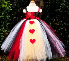 Queen of Hearts Tutu Dress by roshalsaenz on Etsy, $55.00  www.facebook.com/tinytoesbowtique2010