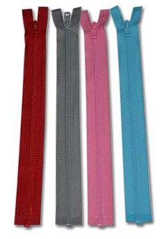 Deelbare ritsen : Deelbare bloktand rits YKK, in elke gewenste kleur 50 cm Tie Clip, Detail, Sewing, Fashion, Moda, Dressmaking, Couture, Fashion Styles, Stitching