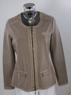 Sweat-Blazer Gerry Weber 730009-15001-700160 Leather Jacket, Blazer, Jackets, Shopping, Fashion, Studded Leather Jacket, Down Jackets, Moda, Blazers