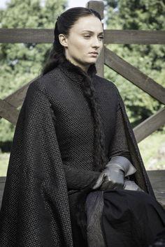 Sansa, brooding brunette. Photo: Helen Sloan/HBO