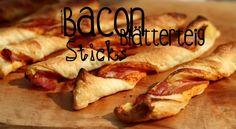 Bacon Blätterteig Sticks