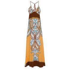 FARM Vestido longo arabesco