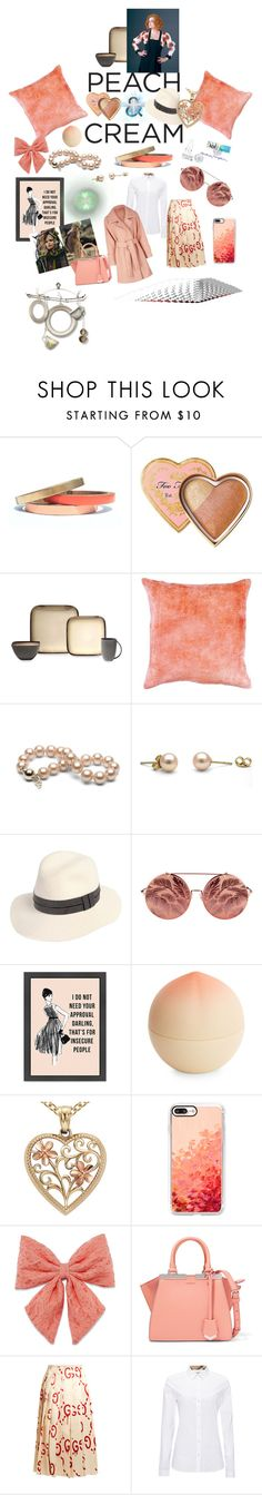 """""""peach and cream"""" by alexbright111 ❤ liked on Polyvore featuring Voz Collective, Too Faced Cosmetics, Baum Bros., rag & bone, Matthew Williamson, Tony Moly, Blue Nile, Casetify, Decree and Fendi"""