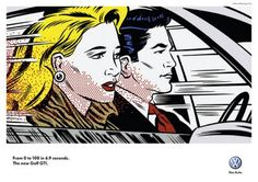 Inspiration - BMW advert done in a pop art style similar to Lichtenstein