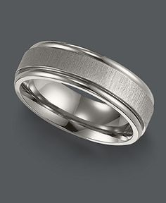 Triton Men's Titanium Ring, Comfort Fit Wedding Band - Rings - Jewelry & Watches - Macy's