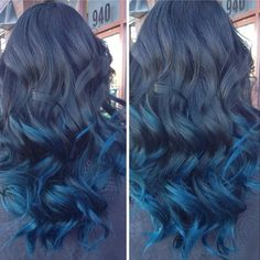blue from black ombre.