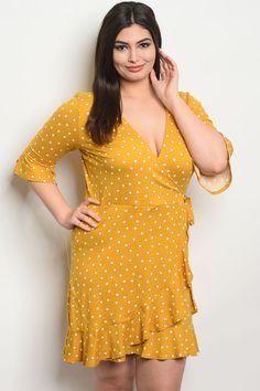c78df587e37 mustard polka dot dress - Szukaj w Google Dot Dress
