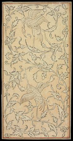Pattern Sketch, Pattern Art, Jacobean Embroidery, Art Chinois, Illumination Art, Islamic Art Pattern, Arabesque Pattern, Art Japonais, Iranian Art