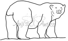 Polar Bear Digital Stamp Image via Etsy
