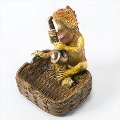 【灰皿】 トカゲ灰皿 【サックス】