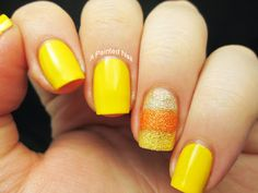 Totally doing this candy corn mani with these Zoya pixie dusts and the black.