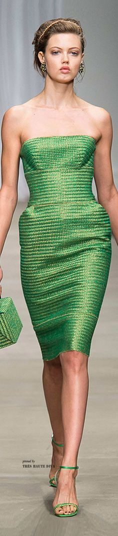 green dress @roressclothes closet ideas women fashion outfit clothing style