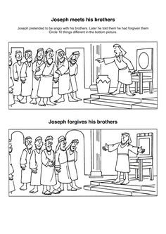 Joseph Forgives His Brothers | Kids coloring page ...