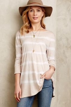 Ruled Scoop Back Tunic - anthropologie.com