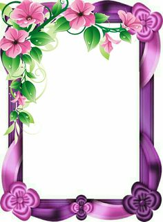 Borders And Frames Frame Border Design, Boarder Designs, Page Borders Design, Photo Frame Design, Flower Background Images, Wallpaper Nature Flowers, Flower Backgrounds, Flower Wallpaper, Birthday Photo Frame