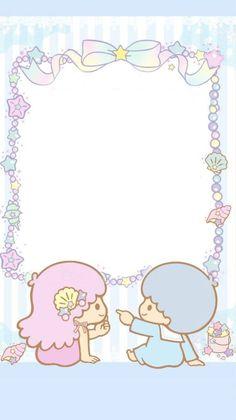 Little Twin Stars Sanrio Wallpaper, My Melody Wallpaper, Star Wallpaper, Kawaii Wallpaper, Pattern Wallpaper, Iphone Wallpaper, Sanrio Characters, Little Twin Stars, Kawaii Art