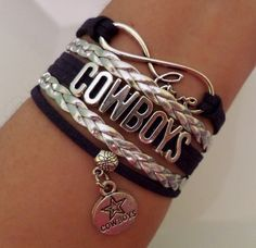 COWBOYS Bracelet Dallas Cowboys Jewelry Football by SummerWishes